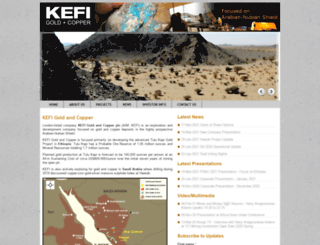 kefi-minerals.com screenshot