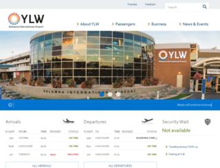kelownaairport.com screenshot