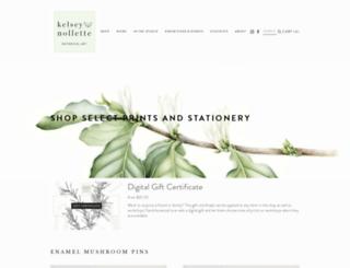 kelsey-nollette.squarespace.com screenshot