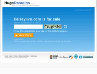 kelseylive.com screenshot