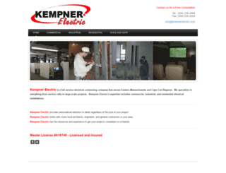 kempnerelectric.com screenshot