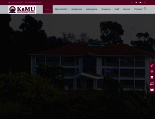 kemu.ac.ke screenshot