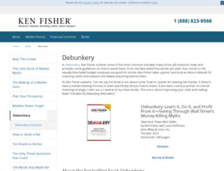 ken-fisher-debunkery.com screenshot