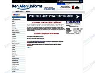 kenallenuniforms.umsecure.com screenshot