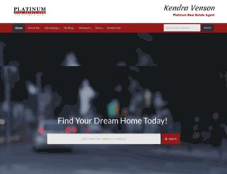 kendravenson.platinumrealestate.com screenshot