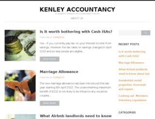 kenleyaccountancyservices.co.uk screenshot