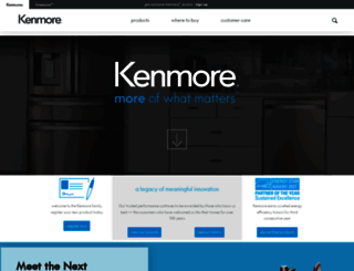 kenmore.com screenshot