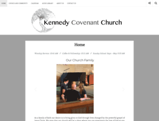 kennedycovenantchurch.com screenshot