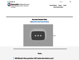 kennethholland.com screenshot