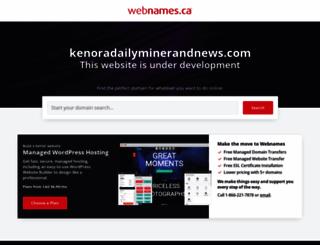 kenoradailyminerandnews.com screenshot