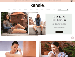 kensie.com screenshot
