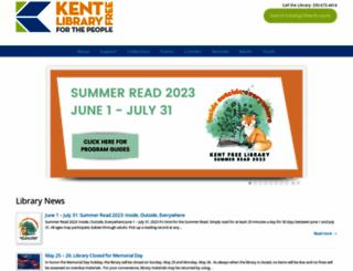 kentfreelibrary.org screenshot