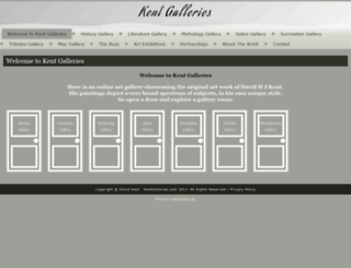 kentgalleries.com screenshot