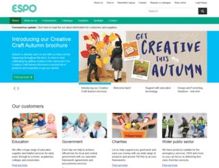 kentico-uat.espo.org screenshot