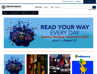 kentonlibrary.org screenshot