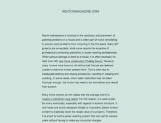 kentonmagazine.com screenshot