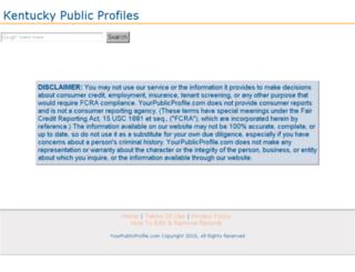 kentucky.yourpublicprofile.com screenshot