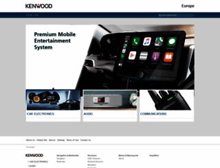 kenwood.eu screenshot