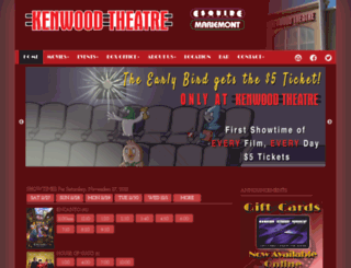 kenwoodtheatre.com screenshot