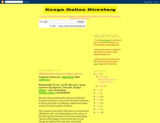 kenya-online-directory.blogspot.com screenshot