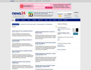 kenya.news24.com screenshot