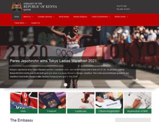 kenyaembassydoha.com screenshot