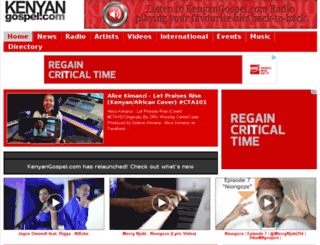 kenyangospel.com screenshot