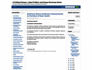 kenyapolitical.blogspot.com screenshot