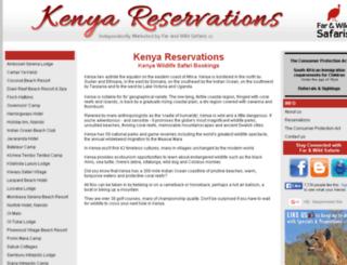 kenyareservations.com screenshot