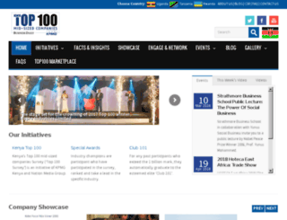kenyatop100.co.ke screenshot