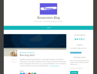 kenzecares.wordpress.com screenshot
