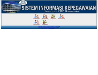 kepegawaian.uhn.ac.id screenshot
