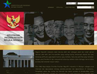kepustakaan-presiden.pnri.go.id screenshot