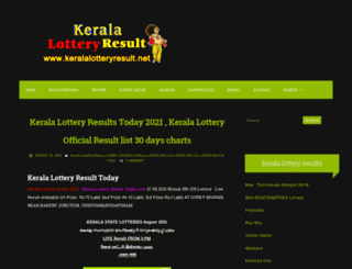 kerala-lotteries.blogspot.in screenshot