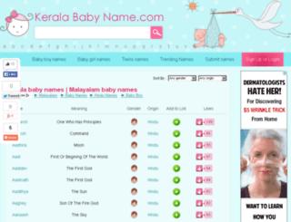 keralababyname.com screenshot