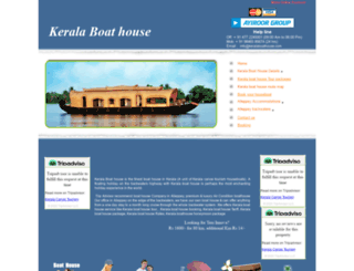keralaboathouse.com screenshot