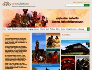 keralaculture.org screenshot