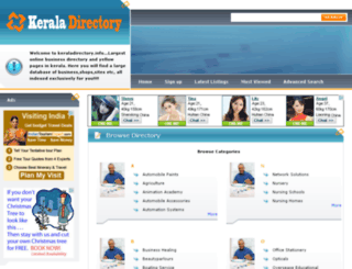 keraladirectory.info screenshot