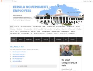 keralagovernment-homepage.blogspot.in screenshot