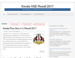 keralahseresults2017.com screenshot
