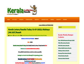 keralalotteriesresults.in screenshot