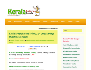 keralalotteriesresults.org screenshot
