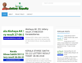 keralalottery-result.in screenshot