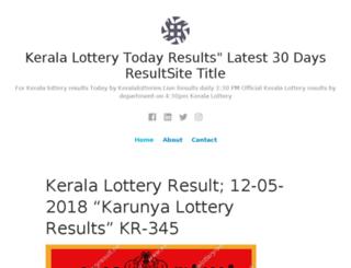 keralalotteryresultnet.wordpress.com screenshot