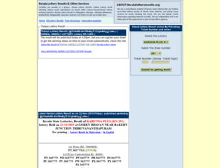 keralalotteryresults.org screenshot