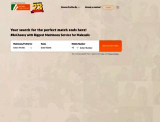 keralamatrimony.com screenshot