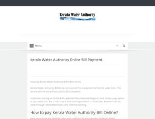 keralawaterauthority.in screenshot