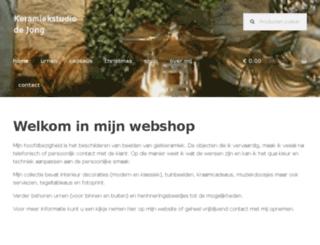 keramiekstudiodejong.com screenshot