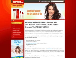 keraniquehairsolution.com screenshot