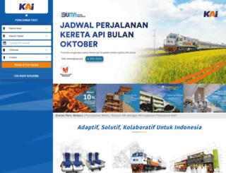 kereta-api.co.id screenshot